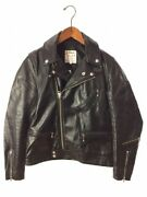 Lewis Leathers Cyclone Double Riders Jacket Size 38 Leather Black Motorcycle