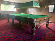 Antique Orme And Sons Snooker Table And Accessories