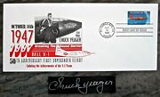 Chuck Yeager Signed Test Pilot Signature With First Day Issue Cover Bob Hoover