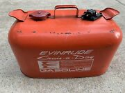 Vintage Red Evinrude Cruise A Day Outboard Motor 6 Gallon Fuel Tank Gas Can Boat