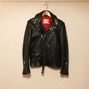 Lewis Leathers Double Riders Jacket Cyclone Leather Motorcycle Black Size 34 666