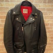 Lewis Leathers Lightning Tight Fit Size 34 Cowhide Leather Jacket Motorcycle