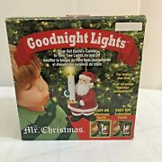 Mr Christmas Goodnight Lights Blow Out Santas Candle To Turn Tree Lights On Off