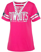 Dallas Cowboys Womenand039s Giselle Fashion Bedazzled Jersey - Pink