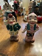 Rare Vintage Salt And Pepper Shakers Mammy And Pappy Yokum 4 1/4andrdquo Lil Abner