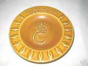 Antique Carlsberg Beer Bar Tavern Brewery Art Pottery Ashtray Charger Sign Plate