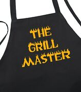 Black Grilling Apron The Grill Master Novelty Barbecue Aprons By Coolaprons