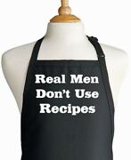 Black Grilling Aprons For Men Real Men Donand039t Use Recipes Bbq Gift Ideas For Dad