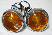 1964 1965 1966 Ford Mustang Amber Parking Lamp Assembly Set Lamps Lights Lh + Rh