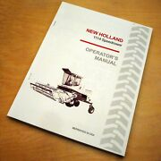 New Holland 1114 Speedrower Swather Operatorand039s Owners Book Guide Manual Nh