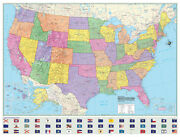 36x48 Hammond United States-us-usa Large Wall Map Mural