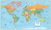Rmc 32 X 50 World Map Poster Mural Signature Series Large Up-to-date Decor