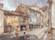 William Russell Flint The Street With The Sundial Art Unsigned Released 2005