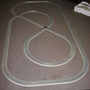 Lionel Train Deluxe Fastrack Pack 5x10 Feet Layout Display Set W/track Crossings