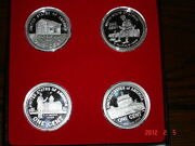 Commemorative Lincoln Cent Silver Rounds , Set Of 4, 1 Oz Each .999 Silver