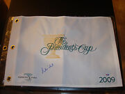 Mike Weir Signed 2009 President's Cup Golf Flag Psa/dna Harding Park 2