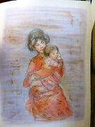 Edna Hibel -kristina And Child - Very Rare-hand Signed And Numbered Limited Edition