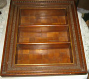 Antique Mission Wood Cupboard Shadow Box Wall Shelve Art Frame Cabinet Furniture