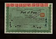 Brazil Port Of Para 1916 With 10 Stock Transfer Stamps