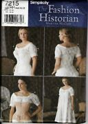 Simplicity 7215 Historical Chemise And Corset Pattern 6-12 Or 14-20