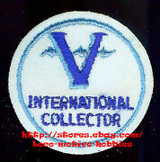 Lmh Patch Badge V International Collector  Victor Record Phonograph Blue 2