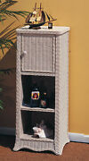 Brand New Rattan And Wicker Country Living Room Display Cabinet