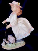 Lladro 6031 On The Go Brand Nib Girl Hat Scooter Retired 205 Off Free Shipping