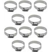 Ideal 1.49 - 2.48 Stainless Steel Hose Band Loop Clamps Set Of10 Boat