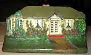 Antique Cjo 1283 Judd Country Chic Home Cottage Cast Iron Garden Art Doorstop