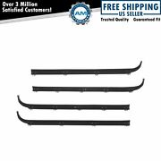 Inner And Outer Window Sweep Felts Seals Weatherstrip 4 Pc Kit Set For Ford Truck