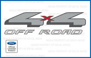 1997 - 1999 Ford 4x4 Off Road Decals Stickers - F - Truck Bed Red Offroad Gray