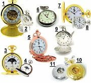 Boxx Antique Vintage Style Collectors Mens Pocket Watch On Chain Gift For Him