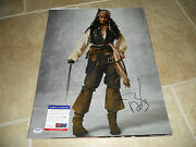 Johnny Depp Signed Autographed Sexy Pirates 16x20 Photo Psa Certified G1