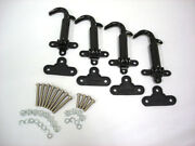 1928 1929 Ford Model A Black Hood Latches W Pads And Screws Kit Set Of 4 Latch