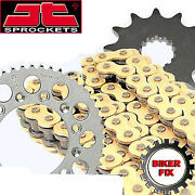 Gold X-ring Chain And And Sprocket Set Fits Honda Cb400 F3s-f3v Super Four Nc31