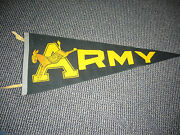 1960's United States Army Black Knights College Football Pennant