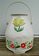 Vintage 5-gal Footed Aluminum Farm Milk Pail/bucket Wear-ever Tacuco