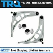 Trq Front Lower Control Arms W/ Bushings Pair Set New For Bmw 3 Series E46 2wd