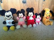 Lot Of 5 Disney Stuffed Animals. Vintage. Not In Mint Cond. But Very Old.