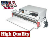 18 Vacuum Sealer 10mm With Double Nozzle Single Impulse To Seal Vacuum Bag Food