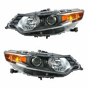 Hid Xenon Headlights Headlamps Left And Right Pair Set For 09-10 Acura Tsx