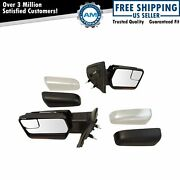 Mirrors Power Heated Signal Memory Chrome And Black Caps Pair Set For Ford F150