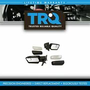 Trq Power Heated Signal Memory Mirrors W/chrome And Black Caps Pair For 04-13 F150