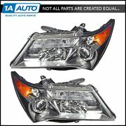 Headlights Headlamps Left And Right Pair Set For 07-09 Acura Mdx Sport Model