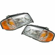 Headlights Headlamps Left And Right Pair Set New For Mercedes C Class C230 C280
