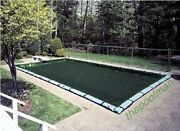 16'x40' Winter Swimming Pool Cover And 12 Water Tube Kit For Inground Pools