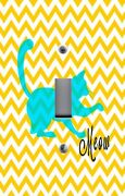 Light Switch Plate Switchplate And Outlet Covers Chevron Yellow With Cat Meow