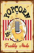 Light Switch Plate Switchplate And Outlet Covers Movie Room Freshly Made Popcorn