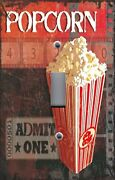 Light Switch Plate Switchplate And Outlet Covers Movie Night Admit One Popcorn