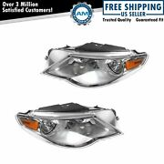 Headlight Headlamp Left And Right Pair Set Of 2 Kit For 09-12 Volkswagen Cc